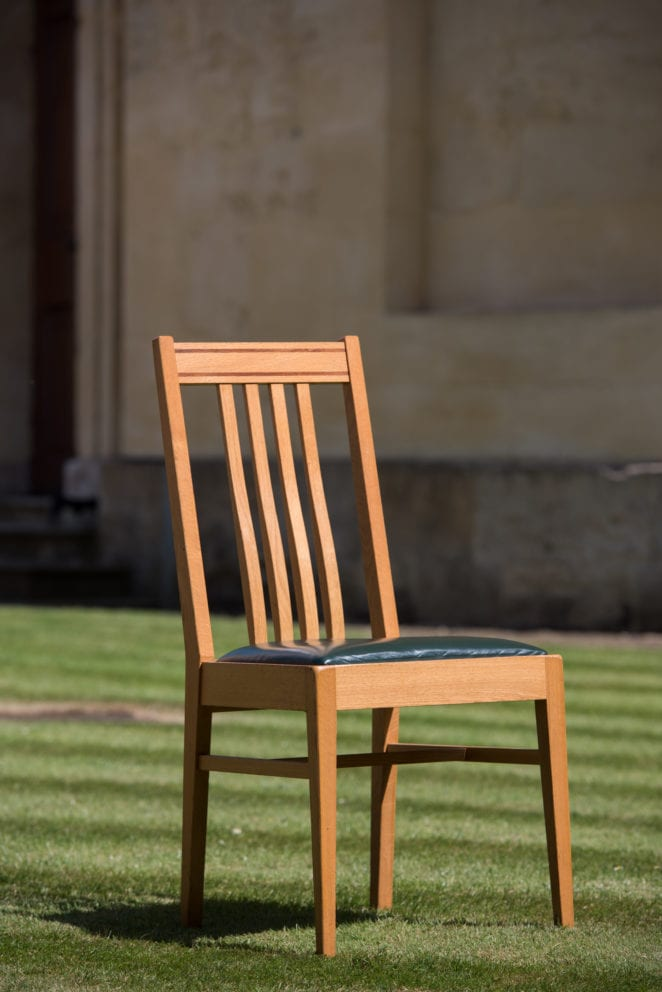 A chair in the Green Templeton College grounds. Photo (c) John Cairns