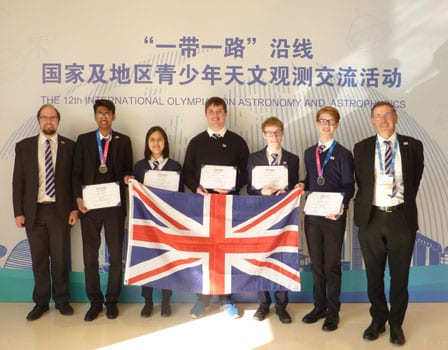 Associate Fellow Charles Barclay leads UK team at 12th IOAA (c) Charles Barclay