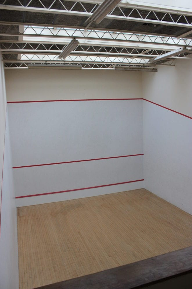Green Templeton College Squash Court
