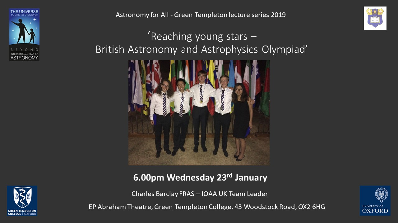 Astronomy for All Lecture: Reaching Young Stars by Charles Barclay