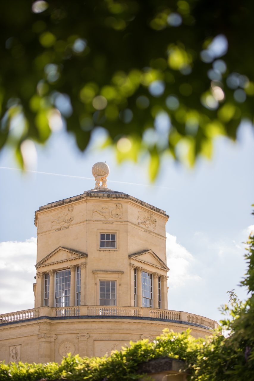 Radcliffe Observatory seen through foliage. Photo (c) John Cairns