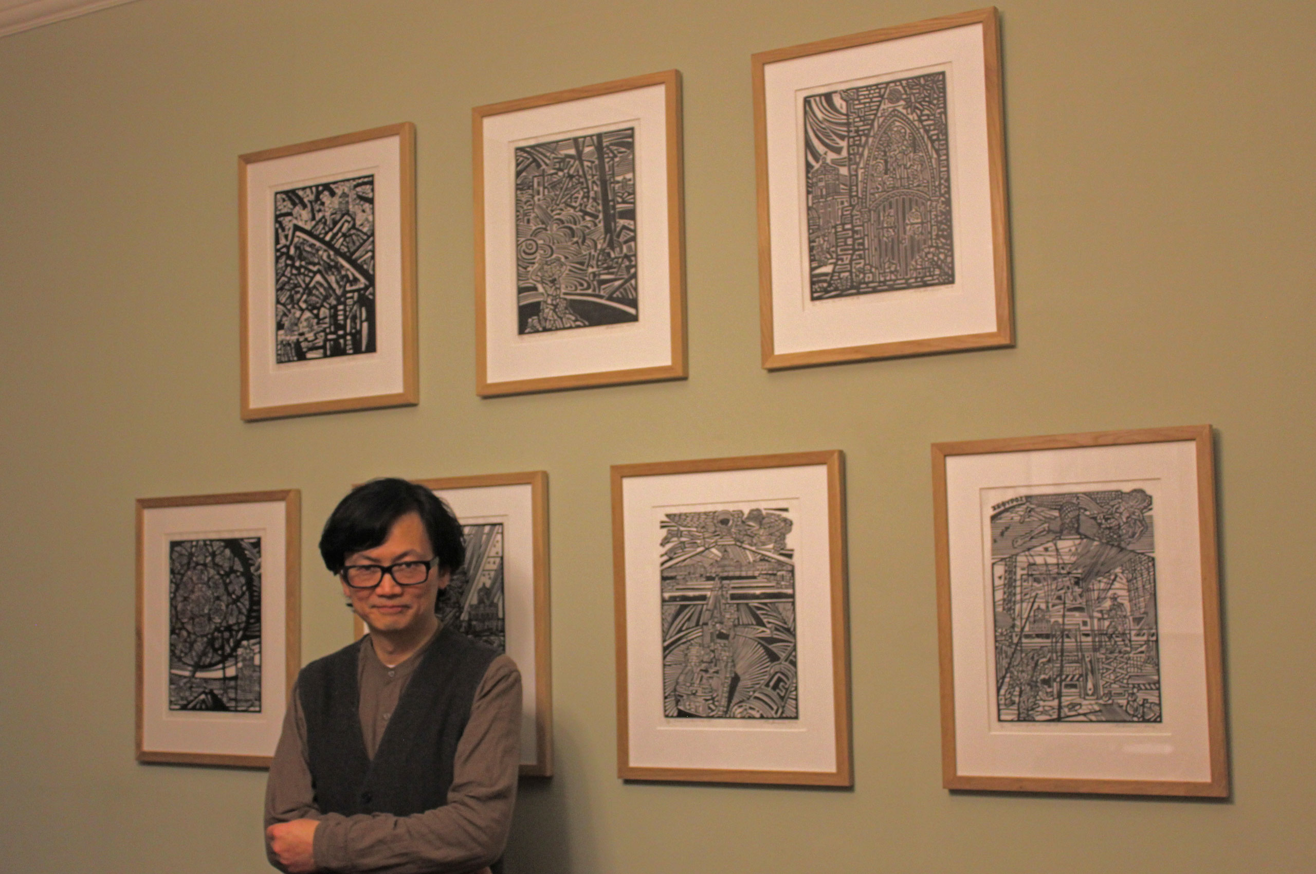 Artist in Residence Weimin He at the launch of his book, Tower of the Winds, in the Kawasaki Room at Green Templeton College on 31 January 2019