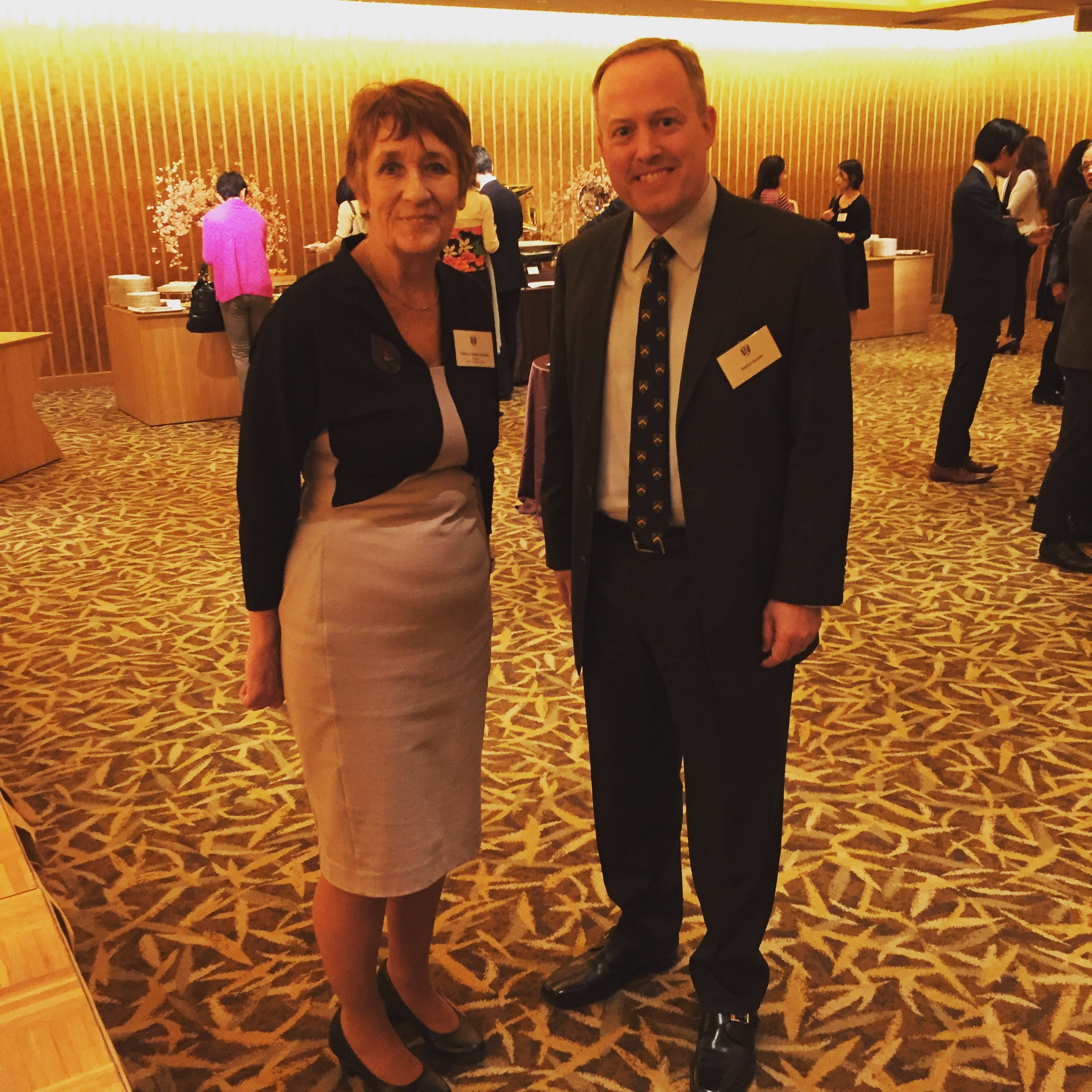 Denise Lievesley and Nathan Ramler launching the Green Templeton Alumni Chapter in Japan at Meeting Minds in Asia, 22 March 2019