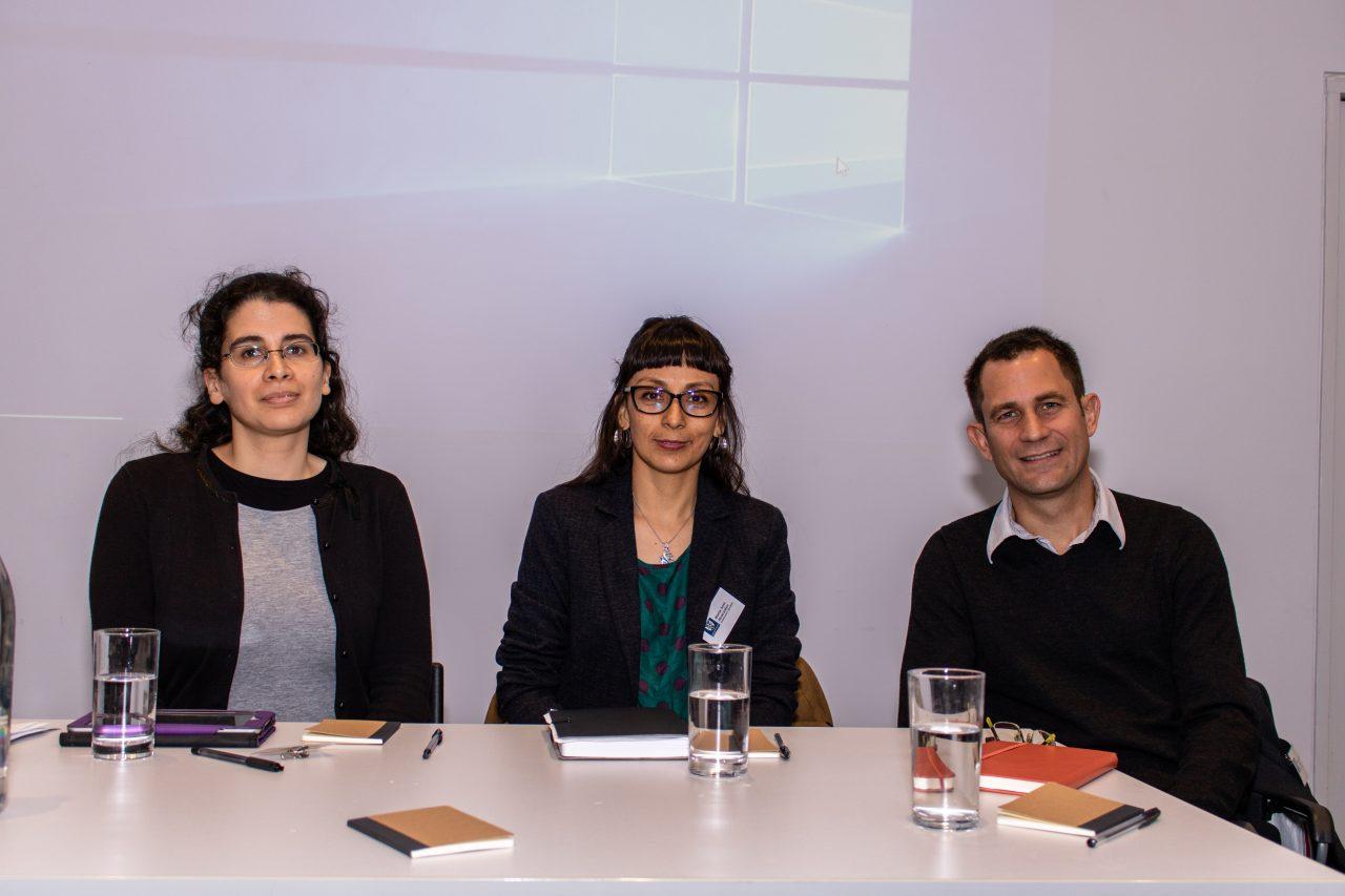 Human Welfare Conference 2019 panel on Food: Karin Eli, Maria Jose Alencastro, Thomas Cousins