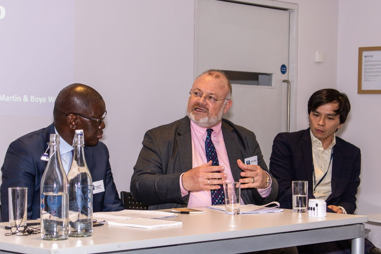 Ethical Investment Panel at Human Welfare Conference 2019: Mouhamadou Diagne, Thierry Martin and Boya Wang