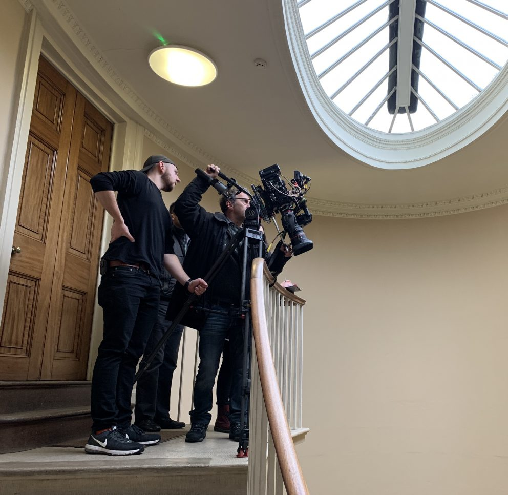 Filming at the Radcliffe Observatory on 9 July 2019