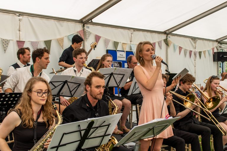 The Green Templeton College Big Band performing at the Garden Party 2019.