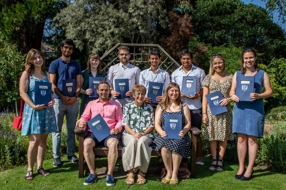 Denise Lievesley with the Nautilus Awards 2019 winners at the Green Templeton garden party on 29 June 2019