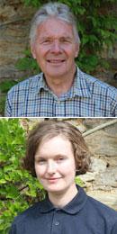 Michael Pirie, Head Gardener, and Carolyn Serra, Assistant Gardener, at Green Templeton College