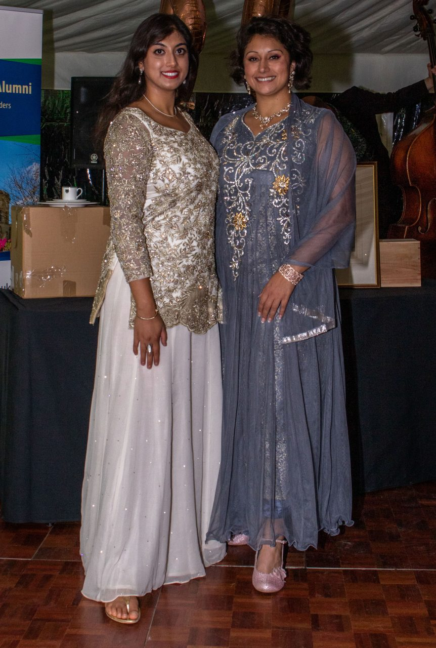 Sabrina Sheikh and Zahra Sheikh., 40th Anniversary of the Founding of Green College, 20 September 2019