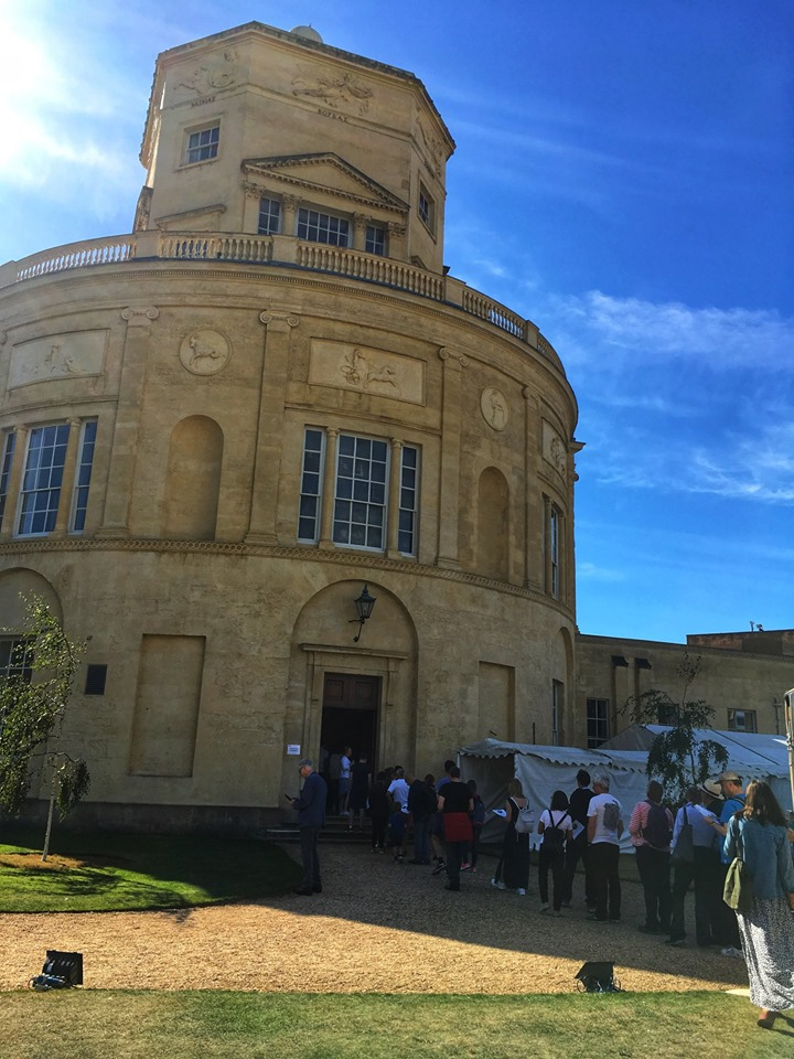 Visitors wait to enter the Radcliffe Observatory at Green Templeton College on Oxford Open Doors 2019