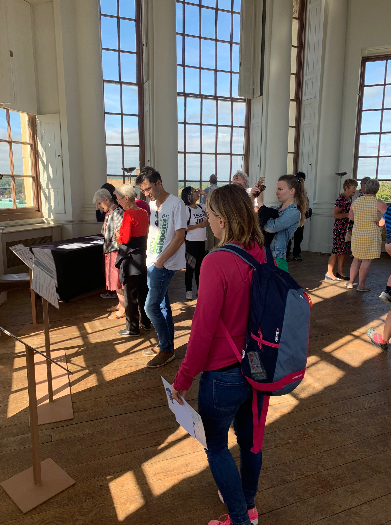 Visitors in the Tower of the Winds at the Radcliffe Observatory at Green Templeton College during Oxford Open Doors 2019.