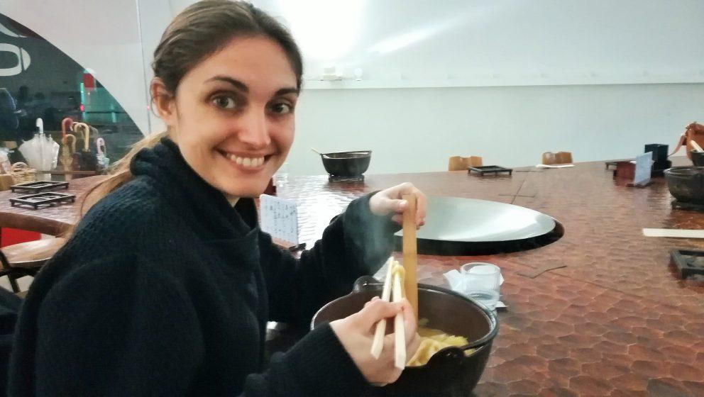 Photo of Carlota ola Marsinach in Japan with food