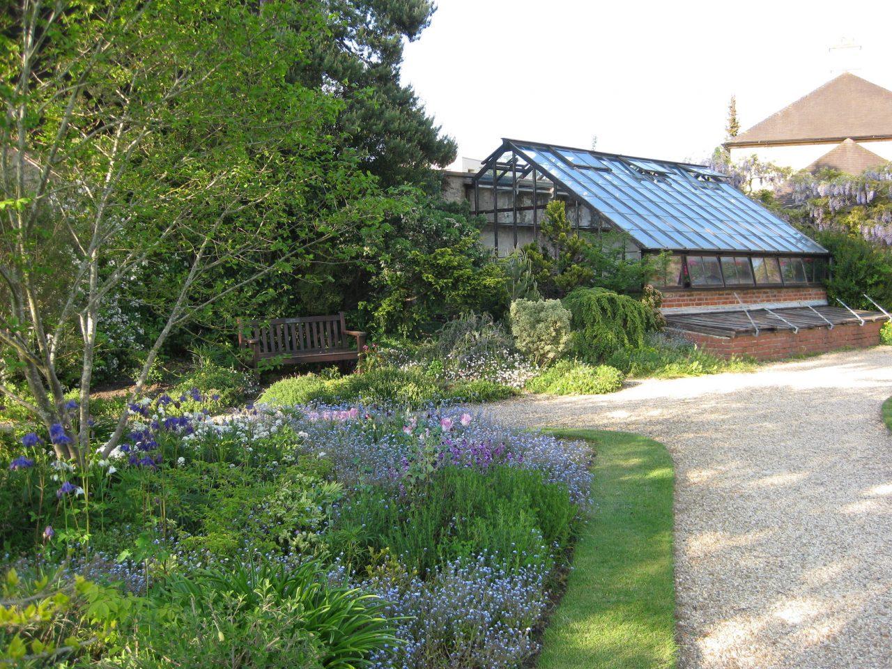 Greenhouse across gardens
