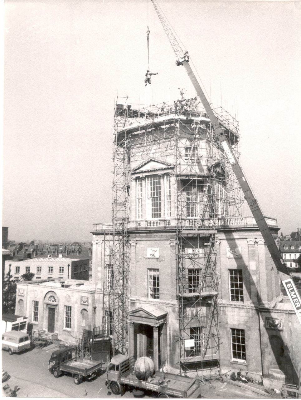 Work Happening on Observatory in 1978