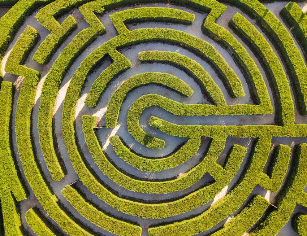 Maze Of Bushes In Botanical Park Ayia Napa Cyprus