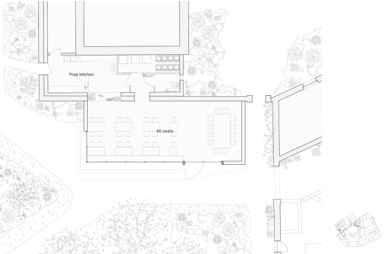 Proposed layout of new informal study space