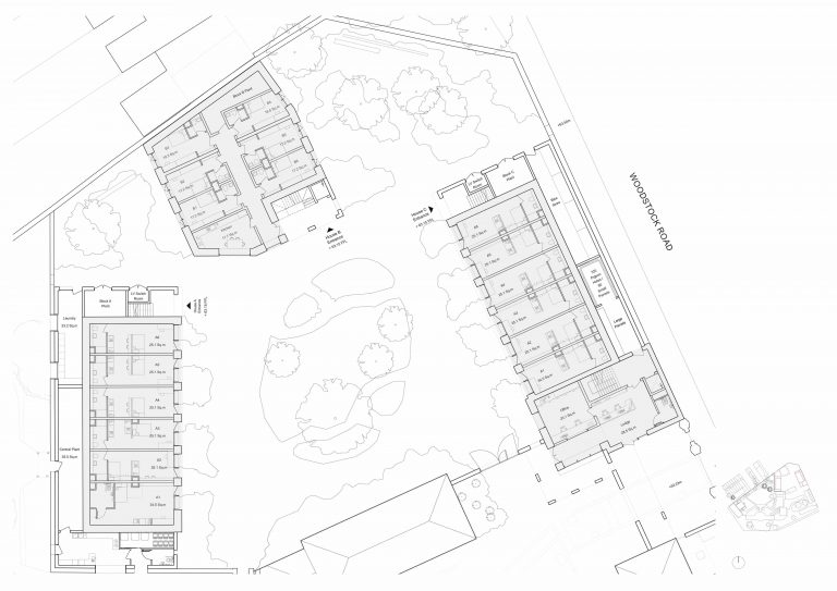 Proposed Layout of new accommodation blocks
