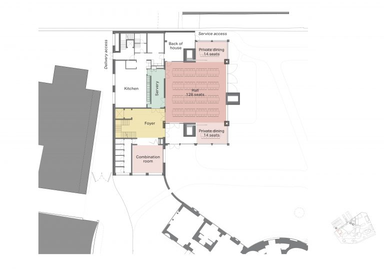 Plan of Proposed Layout of Dining Hall