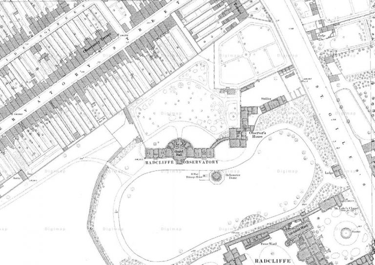 Diagram of Heritage Context of Radcliffe Observatory site