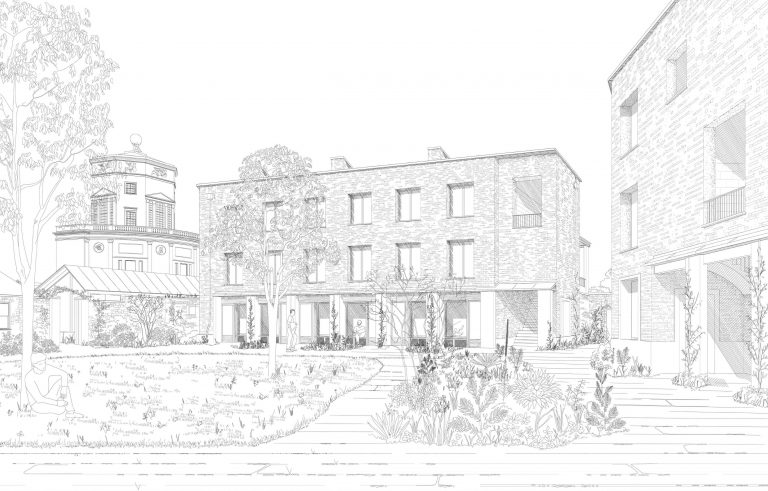 Proposed view From Central Courtyard