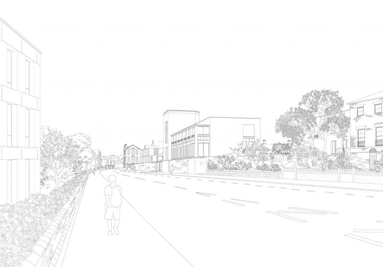 Proposed view Of Entrance Gatehouse From Woodstock Road Cropped