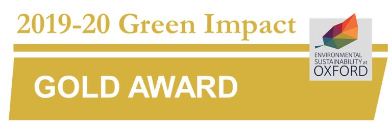 Green Impact Awards Gold logo