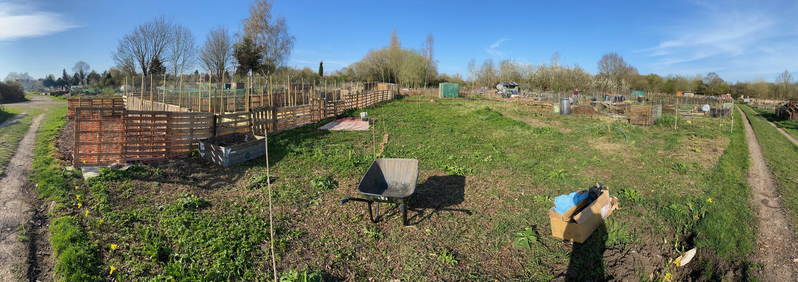 A panoramic view of the allotment in Old marston used by the GTC Allotment Club