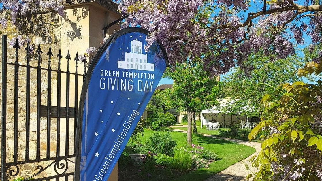 Giving Day sail in archway to Observatory gardens