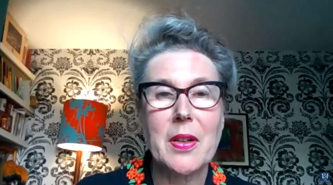 Anne Marie Rafferty speaking on Zoom
